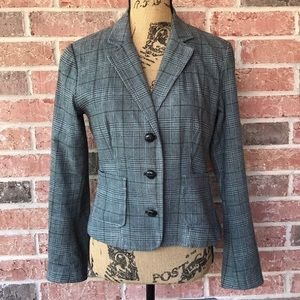 New York & Co Houndstooth Fitted Blazer